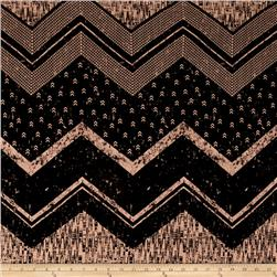 Jersey Knit Aztec Chevron Tan/Black