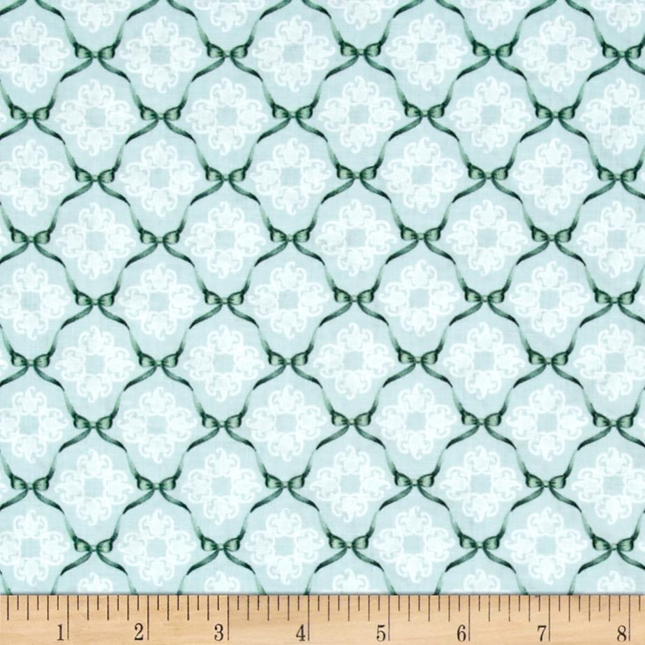 Home For The Holidays Ribbon Geo Light Blue Fabric By The Yard