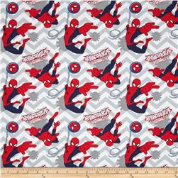 Marvel Ultimate Spider-Man Chevron Grey Fabric