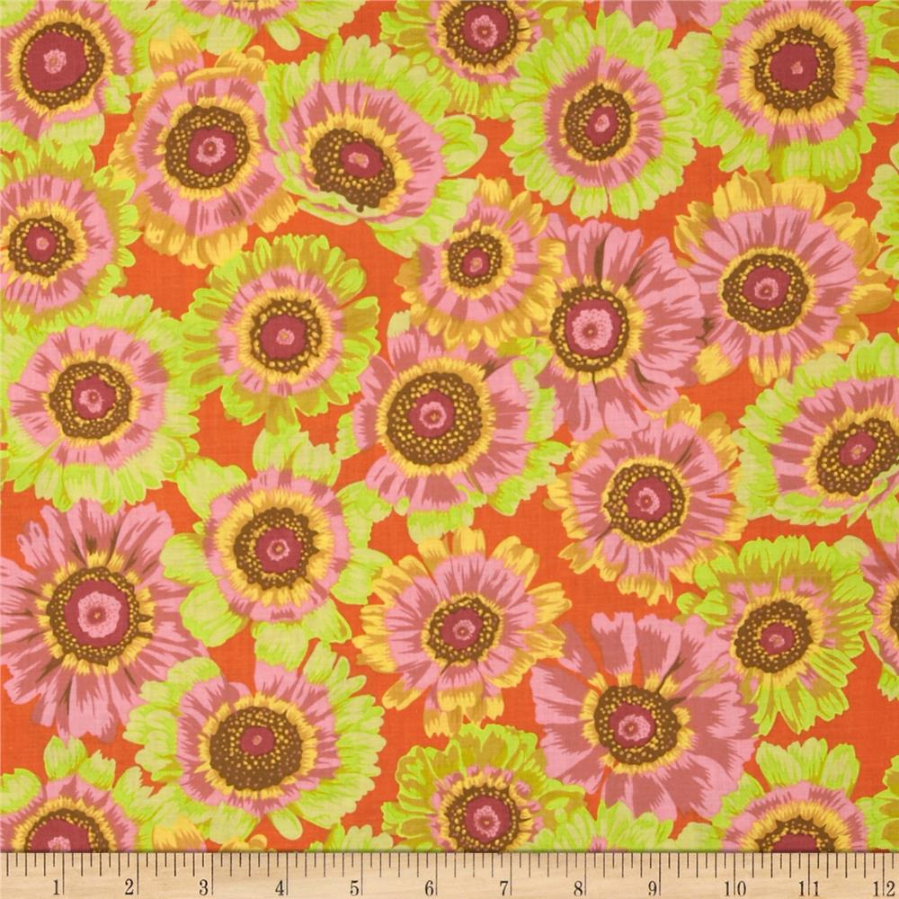 Kaffe Fassett Collective Painted Daisy Citrus