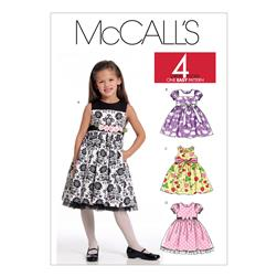 McCall's Children's/Girls' Lined Dresses Pattern M5793 Size CDD