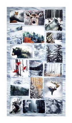 "Call Of The Wild Digital 24"" Panel Wildlife Scenes Frost"