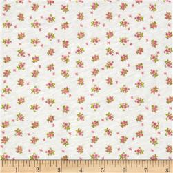 Stretch Rayon Blend Jersey Knit Dainty Blooms Pink/Ivory