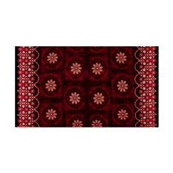 Kanvas Bohemian Rhapsody Double Border Medallion Wineberry