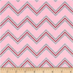 I Love You Chevron Pink