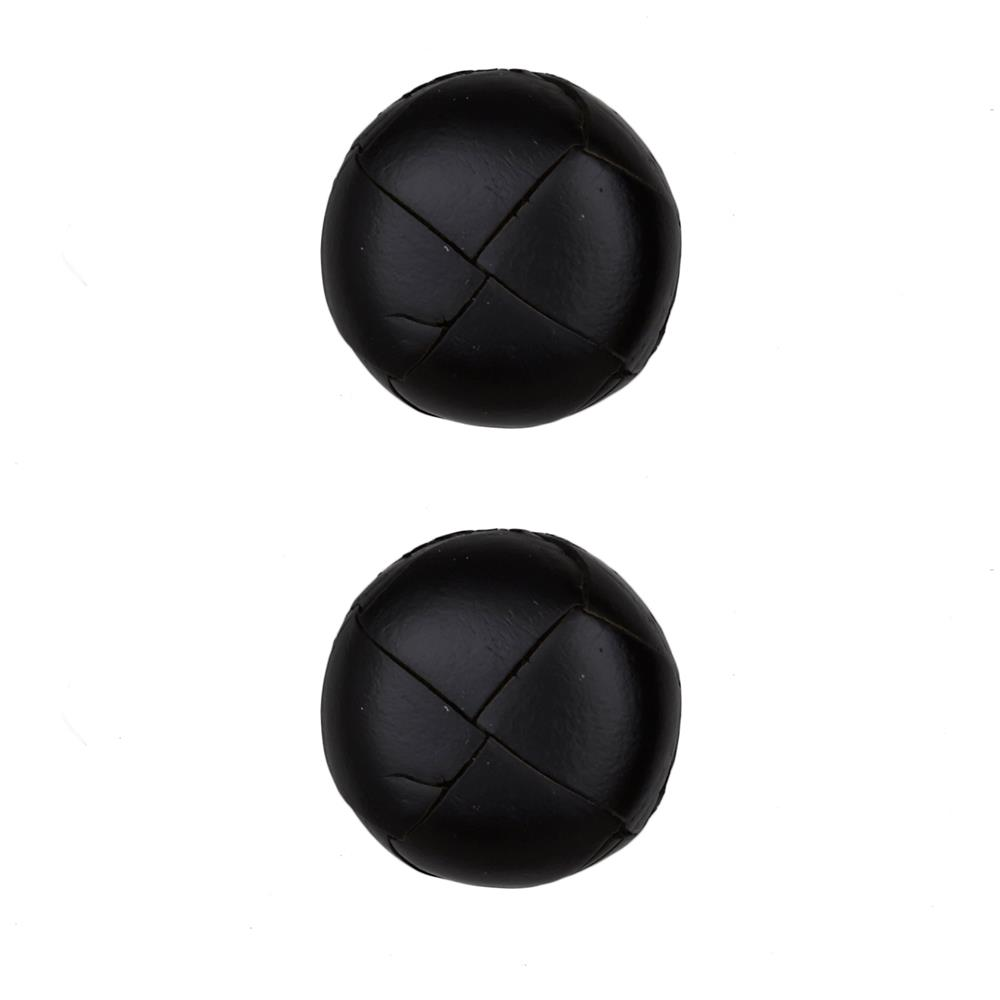 "Dill Buttons 1"" Genuine Black Leather Button"