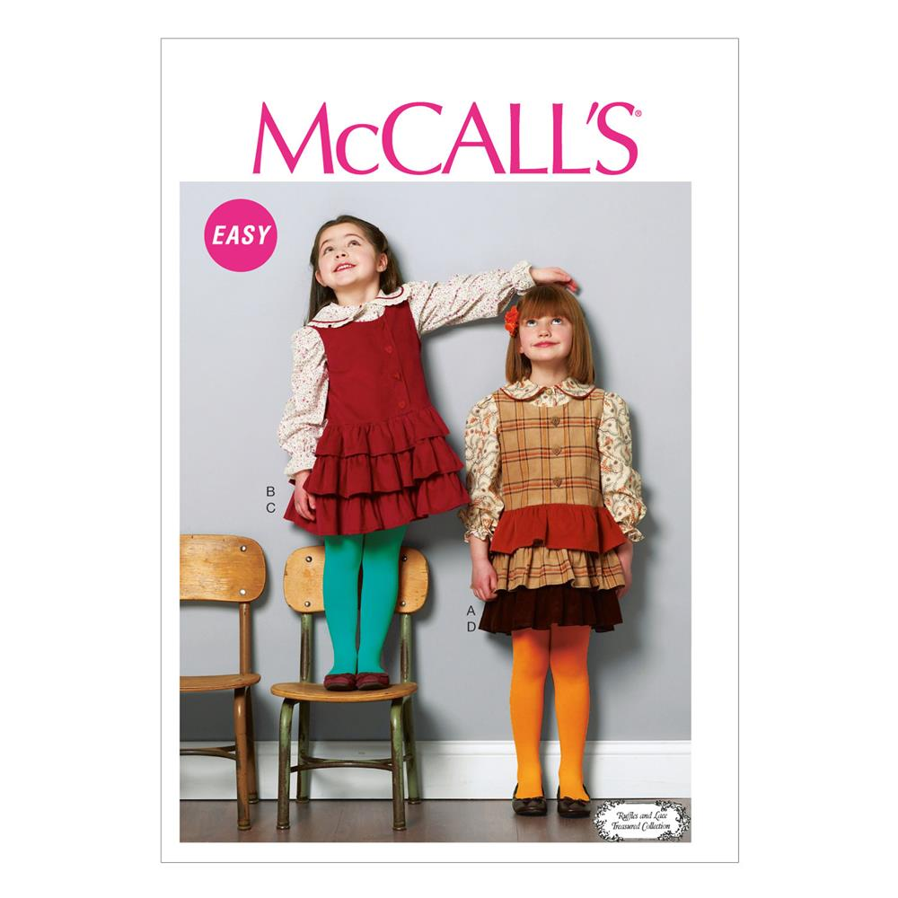 McCall's Children's/Girls' Tops and Jumpers Pattern M6783 Size