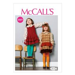 McCall's Children's/Girls' Tops and Jumpers Pattern M6783 Size CDD