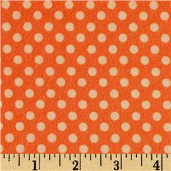 Riley Blake Hooty Hoot Returns Flannel Dots Orange