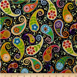 Cutting Garden Paisley Black