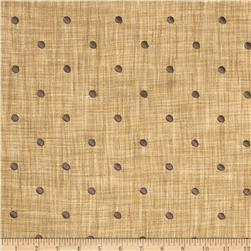 Tempo Faux Linen Embroidered Dot Gunmetal