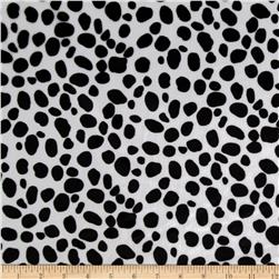 Animal Print Soft Fur Dalmation Black/White Fabric