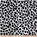 Animal Print Soft Fur Dalmation Black/White