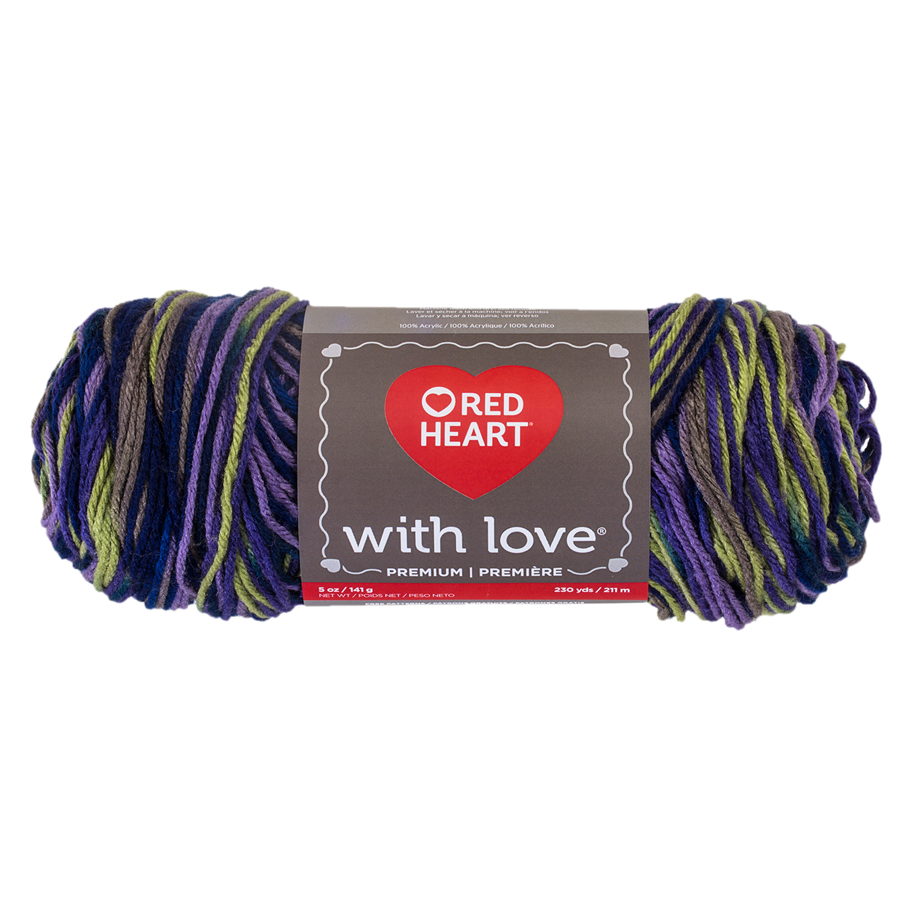 Red Heart With Love Lavender Ivy 0469119