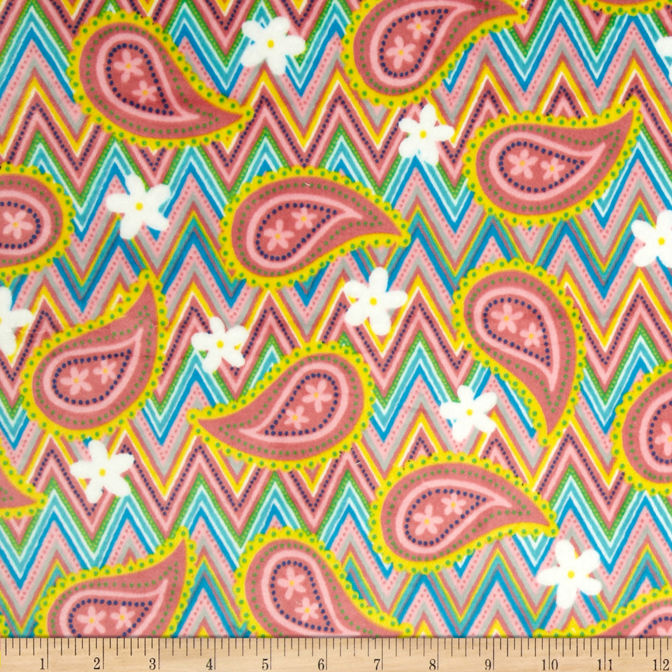 Minky Jelly Tots Pink Fabric