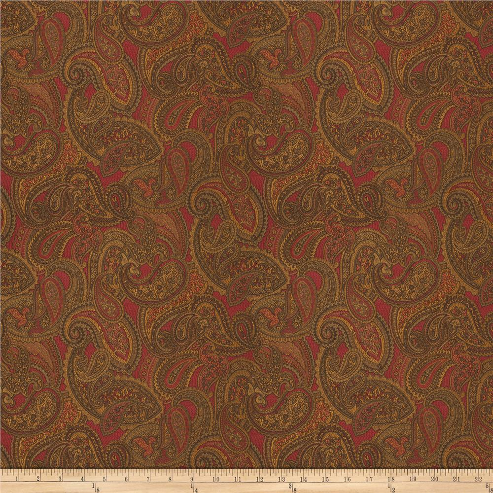Trend 03397 jacquard red discount designer fabric for Jacquard fabric