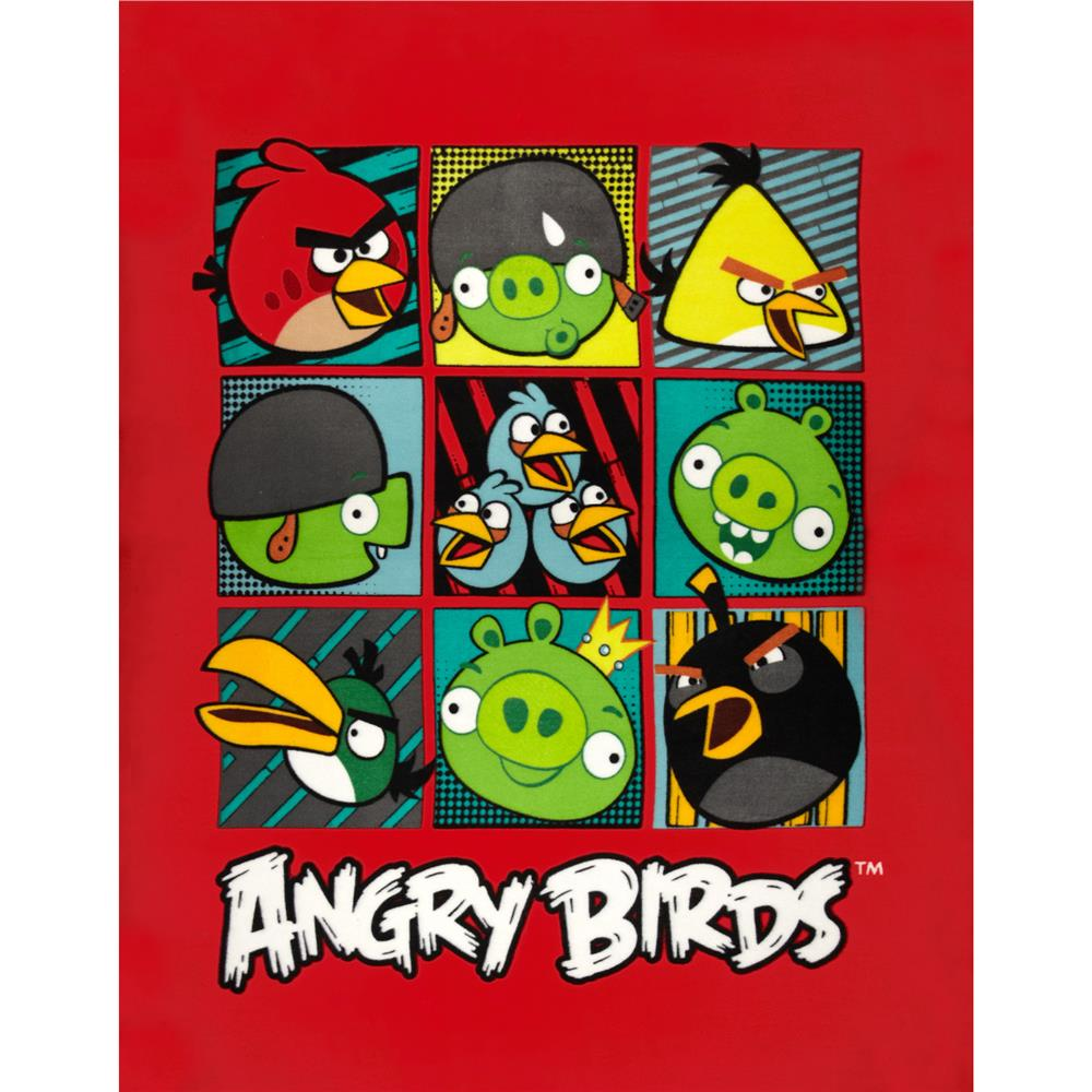 Angry Birds Fleece Birds vs. Pigs Panel Red