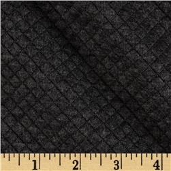 Nordic Cable Quilted Knit Mini Diamond Dark Heather Grey