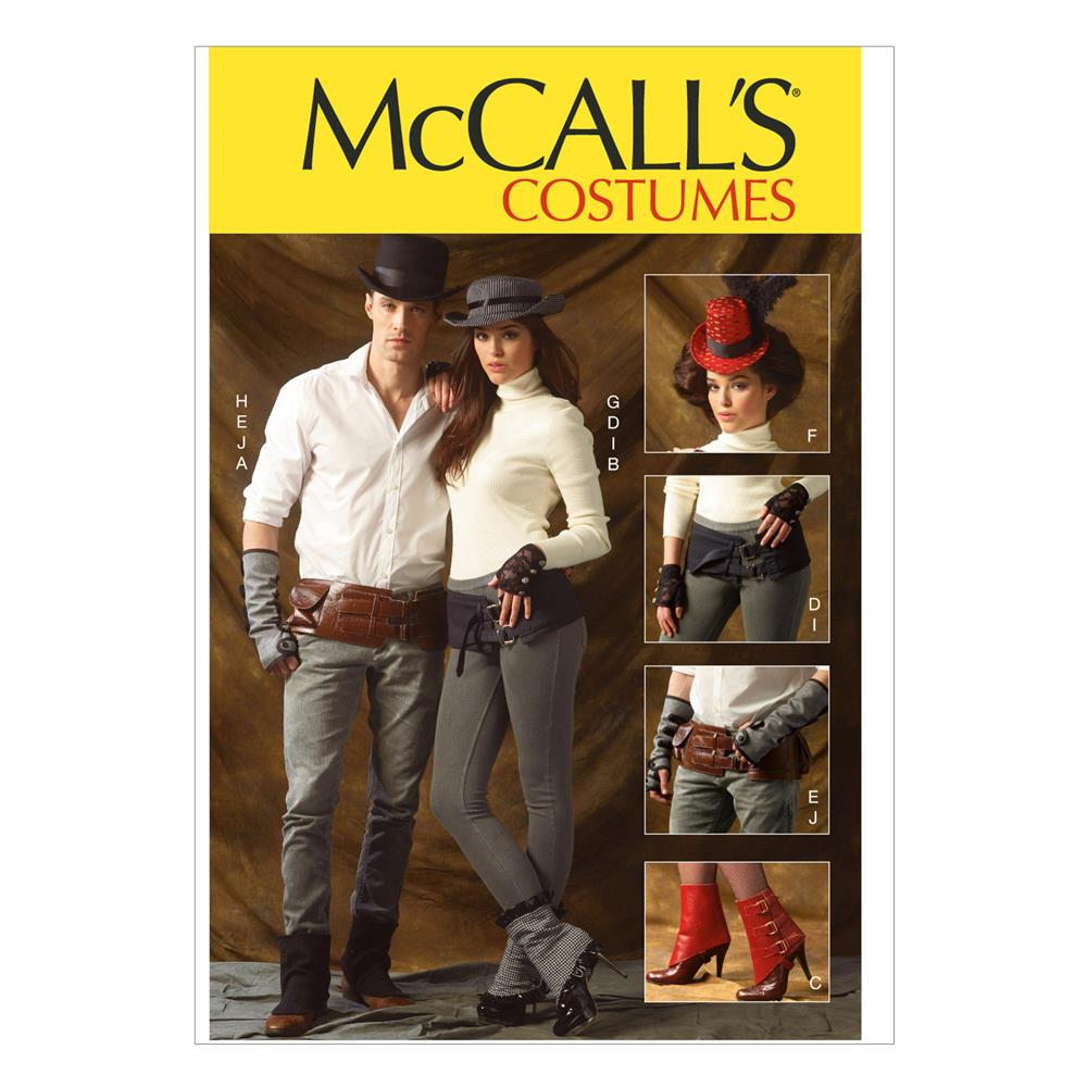McCall's Spats/Gaitors, Fingerless Gloves, Hats and Belts Pattern M6975 Size OSZ