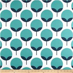 Premier Prints Indoor/Outdoor Caroline Oxford/Ocean Fabric