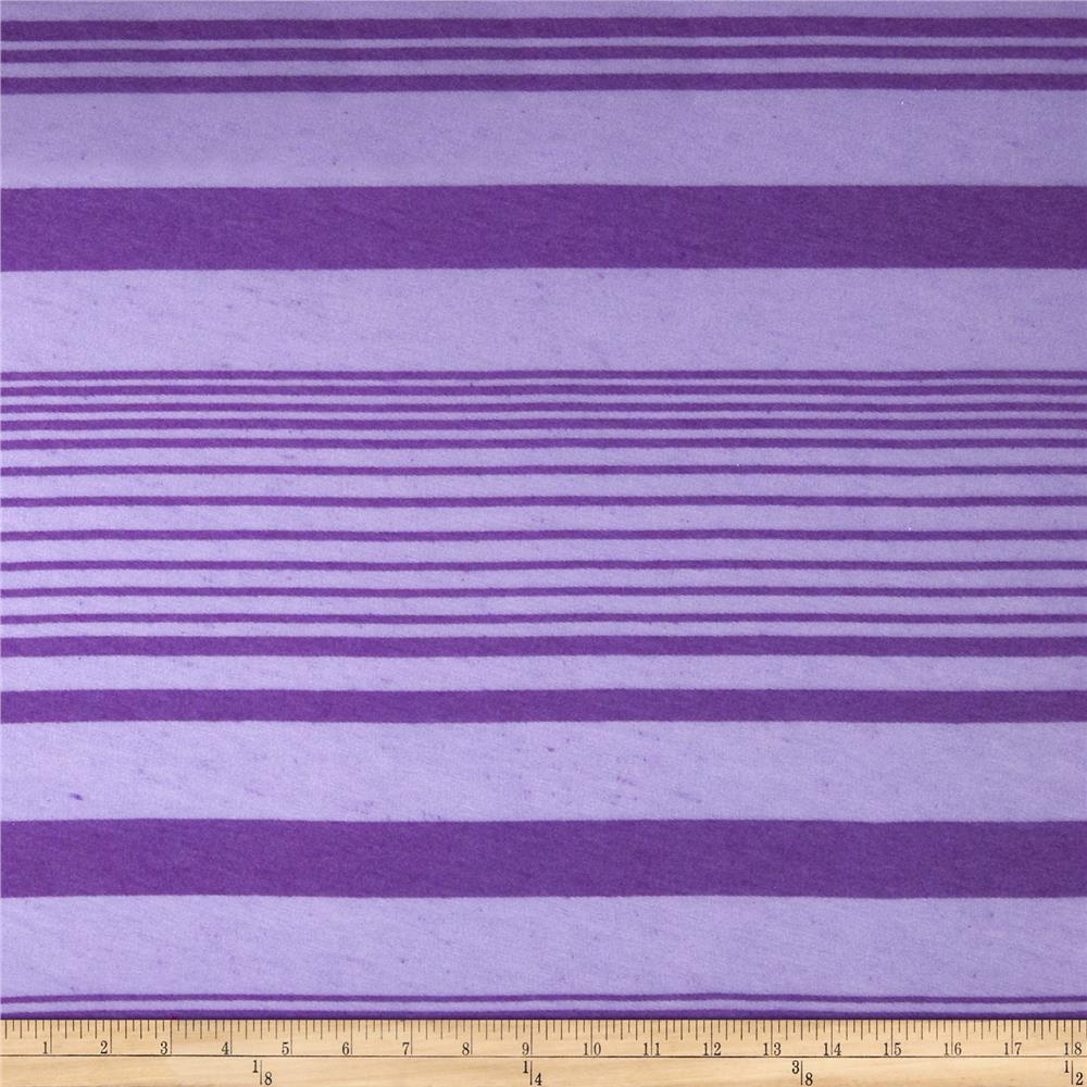 Burnout Tissue Jersey Knit Stripe Purple