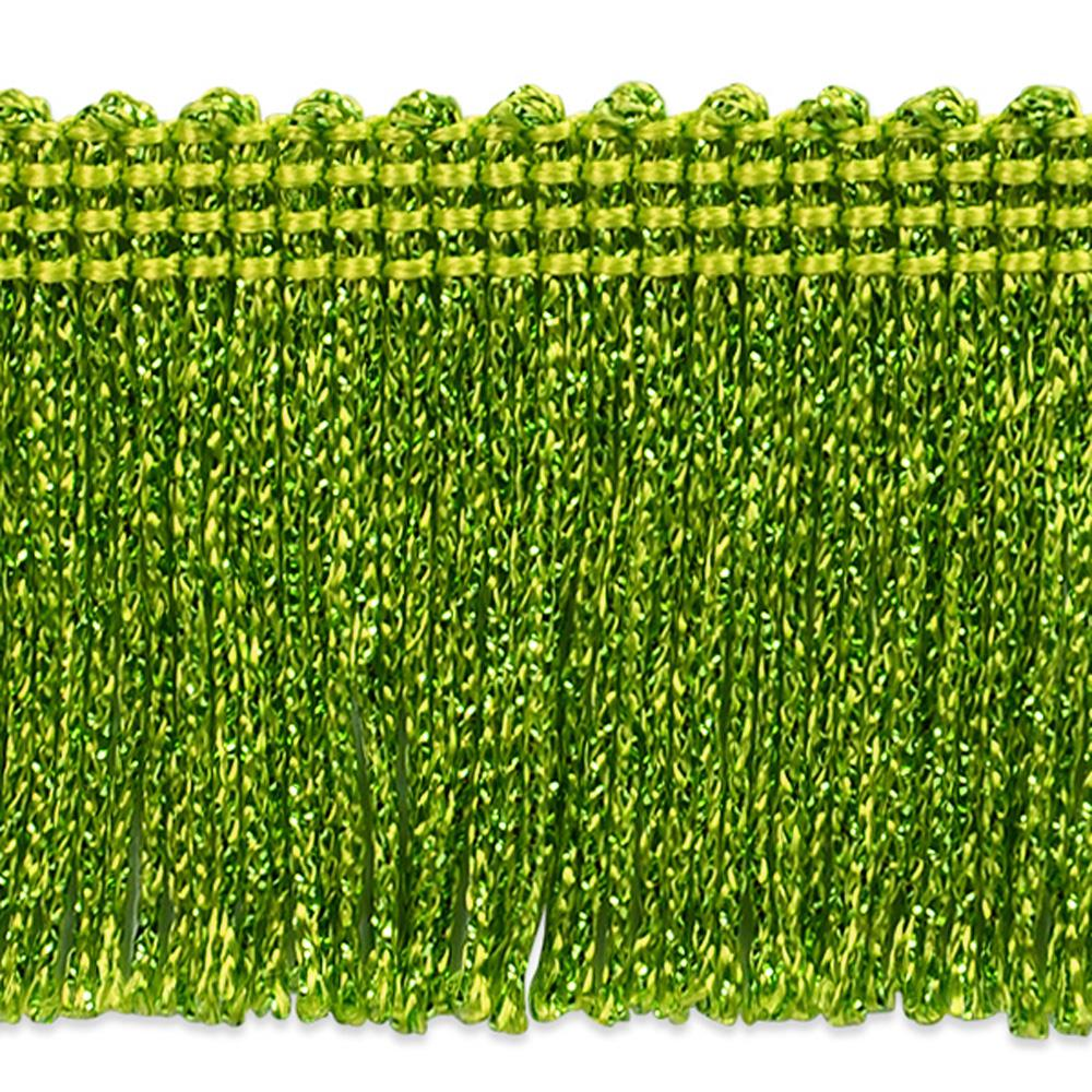 "2"" Metallic Chainette Fringe Trim Lime"