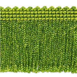 2'' Metallic Chainette Fringe Trim Lime