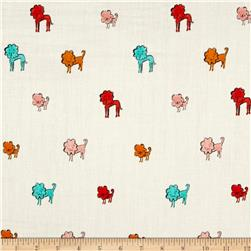Cotton & Steel Clover Double Gauze Dog Lions Pink