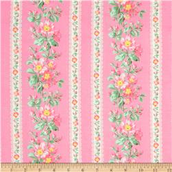 Verna Mosquera Snapshot Blooming Border Stripe Blush