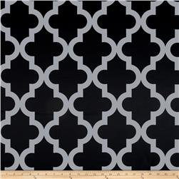 RCA Trellis Blackout Drapery Fabric Black