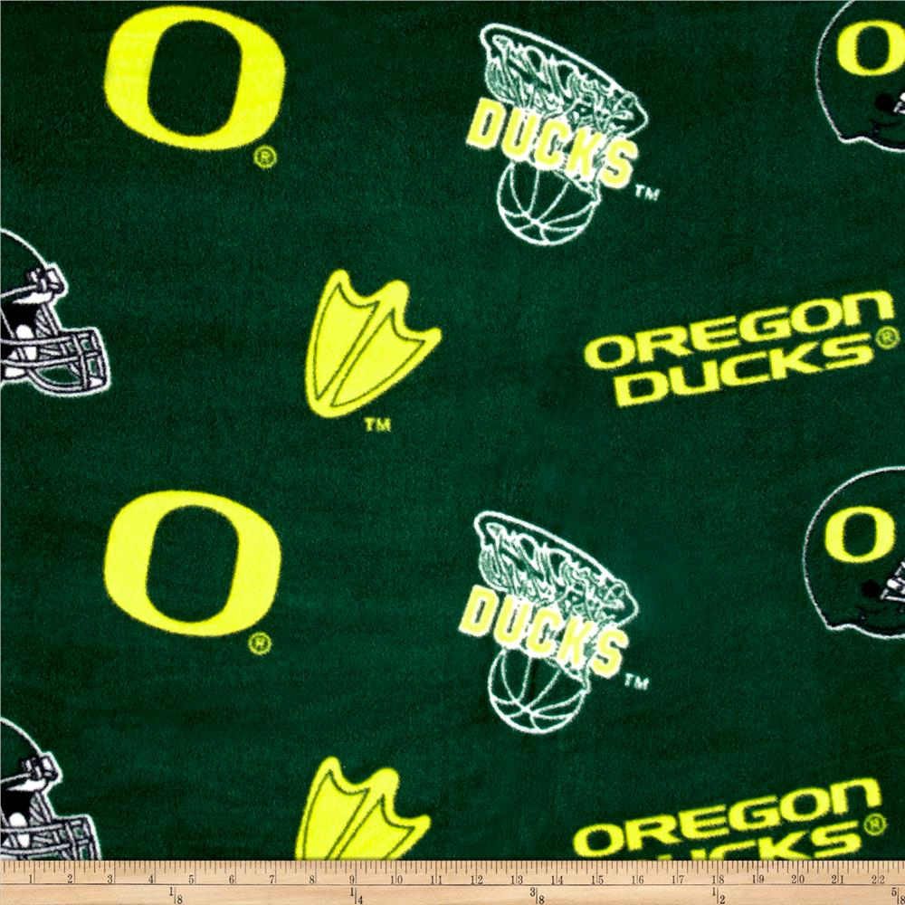 Collegiate Fleece University of Oregon Green Fabric By The Yard