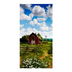 American Byways Single Border Digital Print Country Barn Scenic Sky