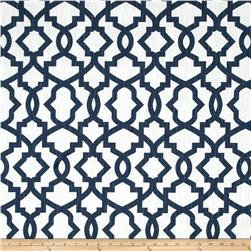 Premier Prints Sheffield Miller Slub Primary Navy Fabric