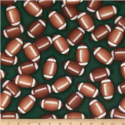 Sports Life 3 Footballs Green Fabric
