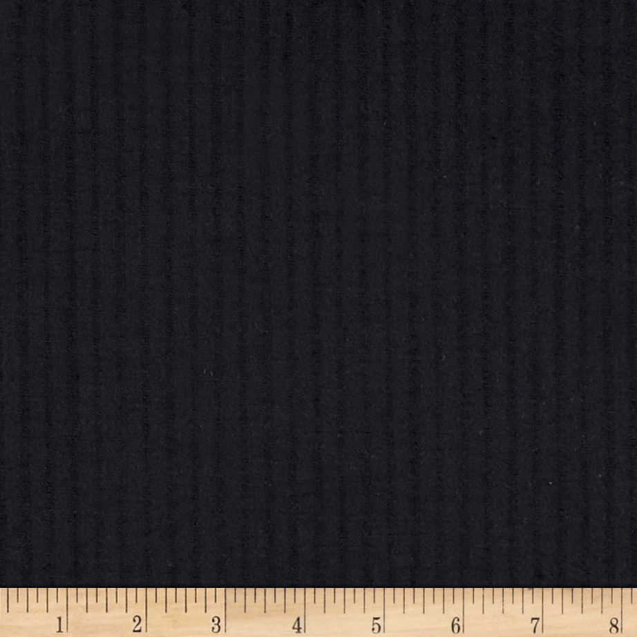 Shadow Stripe Super 110 Suiting Navy Fabric
