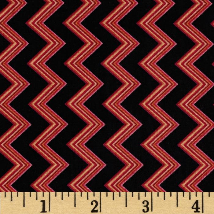 Chevron Chic Spaced Chevron Black/Fuchsia