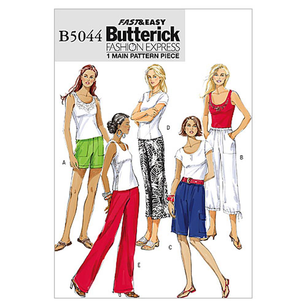 Butterick Misses' Shorts and Pants Pattern B5044 Size 0Y0