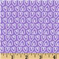 Michael Miller Petite Paris Petite Hearts Purple