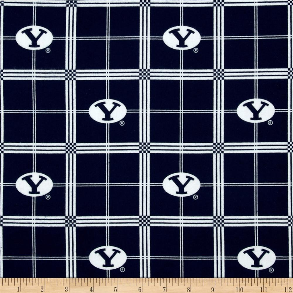 Collegiate Cotton Flannel Brigham Young University Plaid Blue