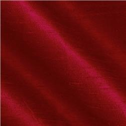 Dupioni Silk Fabric Iridescent Christmas Red
