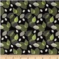 Moderne Tossed Leaf Green