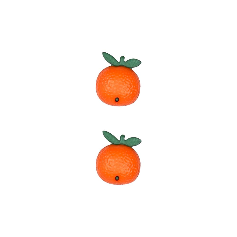 Dill Novelty Button 11/16'' Orange Fruit Orange