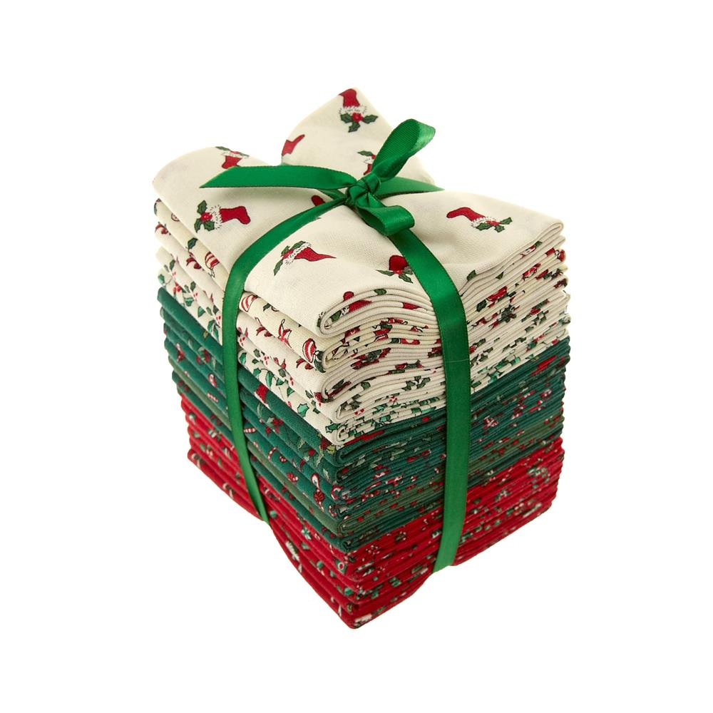 Mistletoe & Holly Fat Quarters