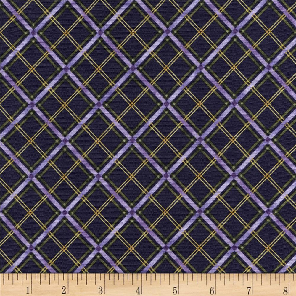 Timeless Treasures Violet Bias Plaid Purple