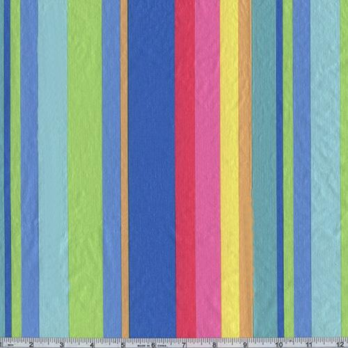 Flannel Backed Vinyl New Spring Stripe Blue   Discount Designer Fabric    Fabric.com
