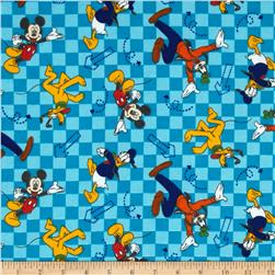 Disney Mickey & Friends Flannel Go Toss Blue