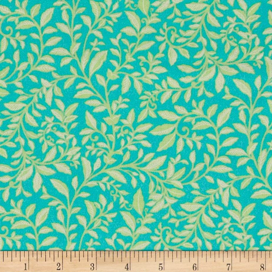Piccadilly Falling Leaves Mint Green