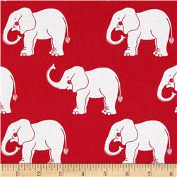 Trunk Show Elephants Red & White
