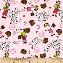 Alpine Flannel Sister Missionary Pink