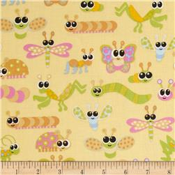 Kitschy Kawaii Bugs Yellow